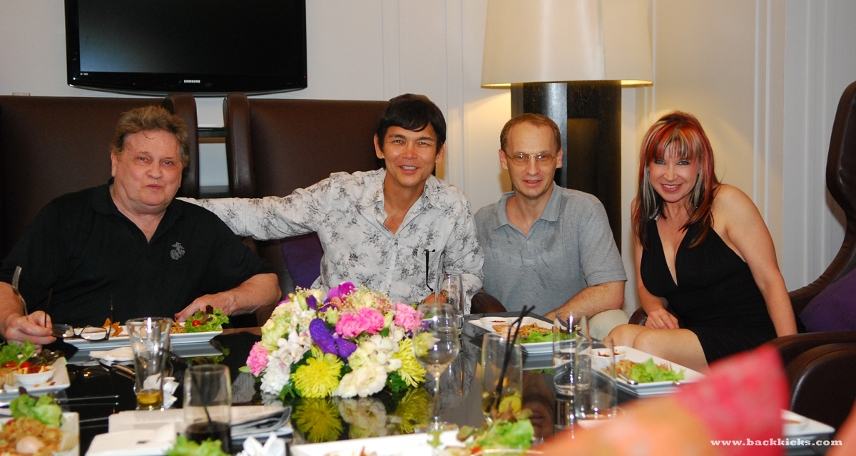 Bangkok dinner with Joe Lewis