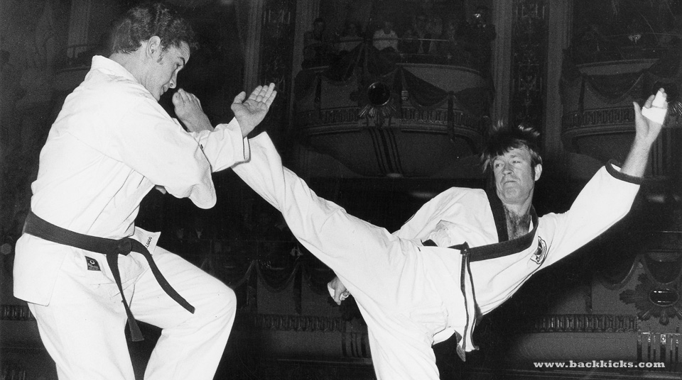 image Karate instructor has a thing with a student